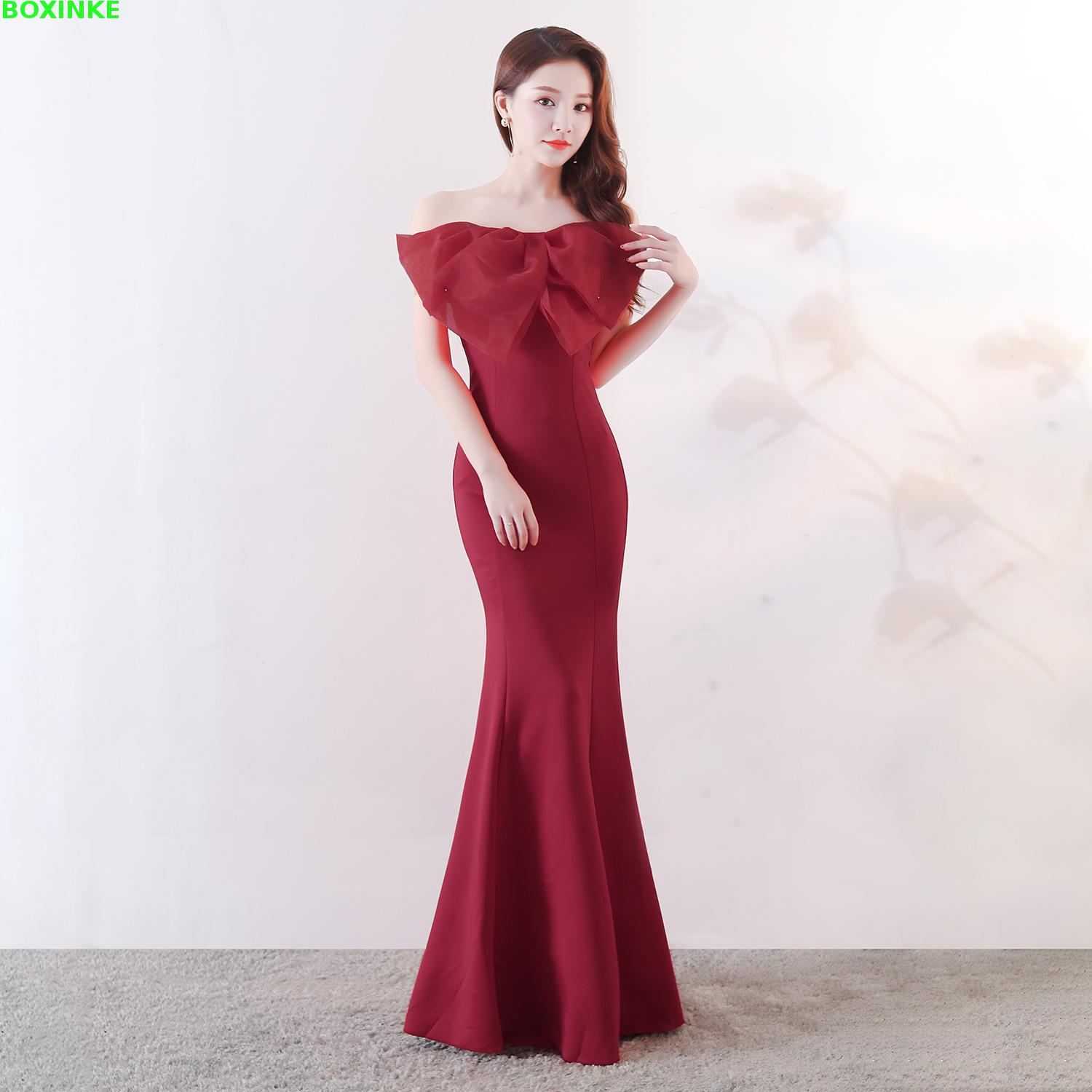 Plus Size Direct Selling Vestidos Mujer Vestido De Festa 2018 The New Sexy Banquet Presided Over Bra Fish Tail And Thin Dress in Dresses from Women 39 s Clothing