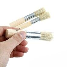 3 шт./компл. деревянная кисть для трафаретов свиной щетины щетки акриловые Акварельная картина маслом