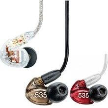 Высокое Качество SE535 В Ухо Наушники Динамические HI-FI Stereo Bass Шумоподавления Наушники 3.5 ММ Гарнитура с Розничной коробке 3 цвета
