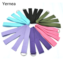 Fitness Exercise Gym Yoga stretch belt  Band Bands Workout Pull Rope Cotton 6 color
