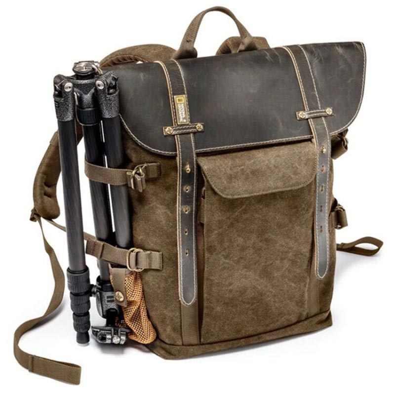 National Geographic afrika koleksiyonu NG A5290 A5280 Laptop sırt çantası SLR kamera çantası tuval deri kılıf fotoğraf çantası