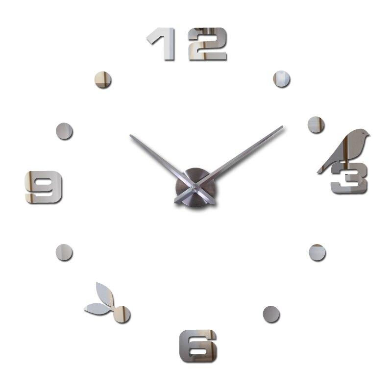새로운 핫 Freeshipping 석영 판매 조용한 시계 흥미로운 3d Diy 홈 장식 시계 로마 숫자 아트 벽 스티커 단일