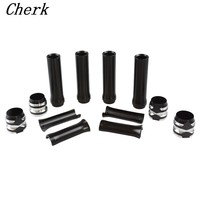 Motorcycle Black Deep Cut Pushrod Tube Covers Lower For Harley Dyna Softail Touring FLH/FLT Twin Cam 99 17