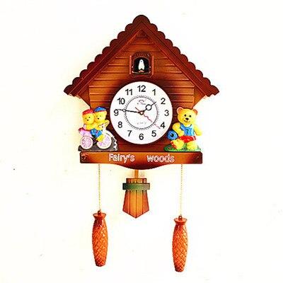 Décoration Art quartz montres salon moderne pour la musique créative horloge temps coucou européen coucou horloge simple f