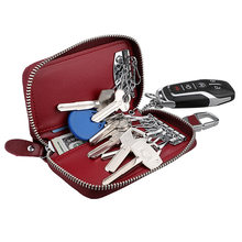 TRASSORY Multifunctional Fashion Genuine Leather Car Key Purse Holder Organizer Pocket with 12 Key Ring for Men Women(China)