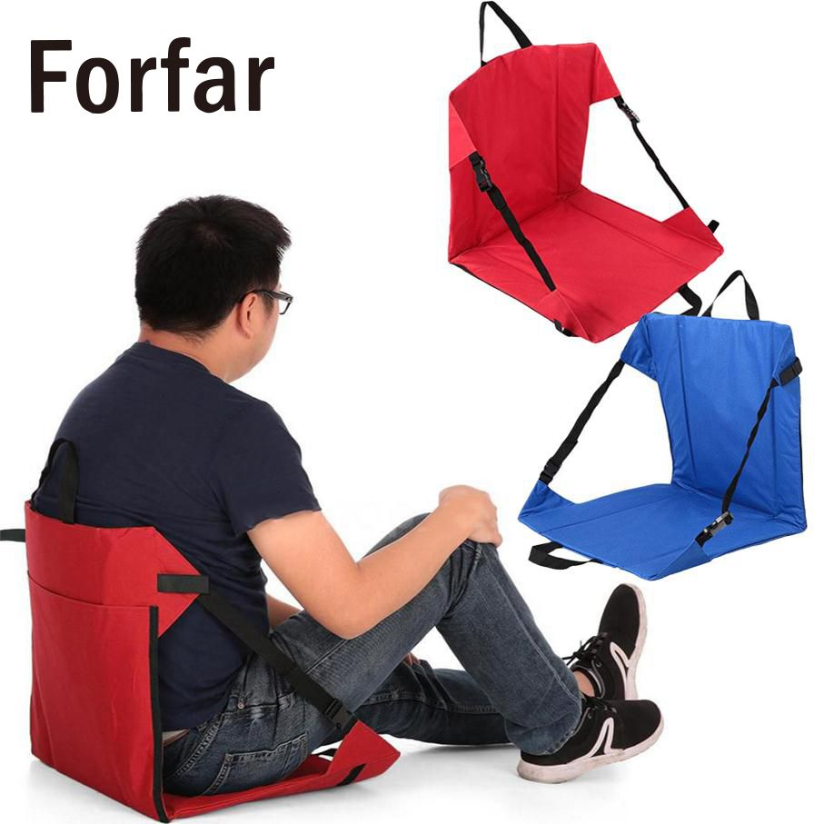 Forfar new and hot Clip-On Portable Folding chairs Camping Picnic Outdoor Side Hiking Fishing Seat Tool outdoor camping hiking picnic bags portable folding large picnic bag food storage basket handbags lunch box keep warm and cold