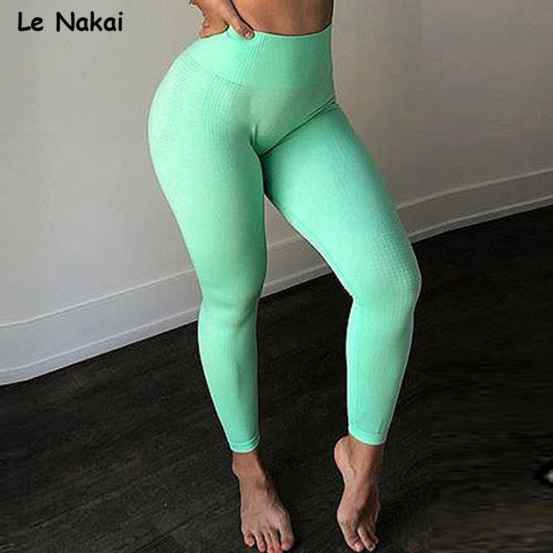 New color vtial seamless leggings athletic sport leggings workout gym legging women fitness yoga pants scruch butt sweatpants
