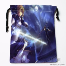 Custom Saber.(Fate.stay.night) Drawstring Bags Travel Storage Mini Pouch Swim Hiking Toy Bag Size 18x22cm#0412-04-234