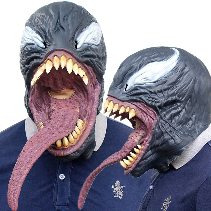 The Venom Spiderman Mask Cosplay Costumes Edward Brock Halloween Party Latex Masks