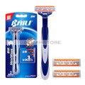 BAILI Shaving Razor Holder Disposable Cartridge Triple Blades Stainless Steel Razor Blades For Men BT309