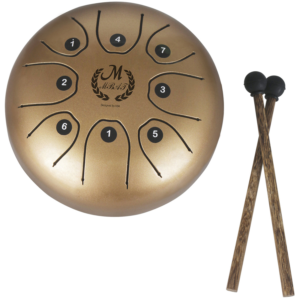 MEIBEITE Creative 5.5 Inch Steel Tongue Drum Set Water-Based Paint Surface Drum Music Instrument For Children LearningMEIBEITE Creative 5.5 Inch Steel Tongue Drum Set Water-Based Paint Surface Drum Music Instrument For Children Learning