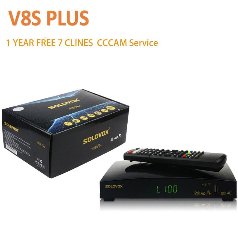 DVB-S2 V8S Plus récepteur Satellite 1 an Europe Cccam Clines MPEG4 1080 P HD récepteur TV numérique récepteur v8s plus pk v6sSatellite