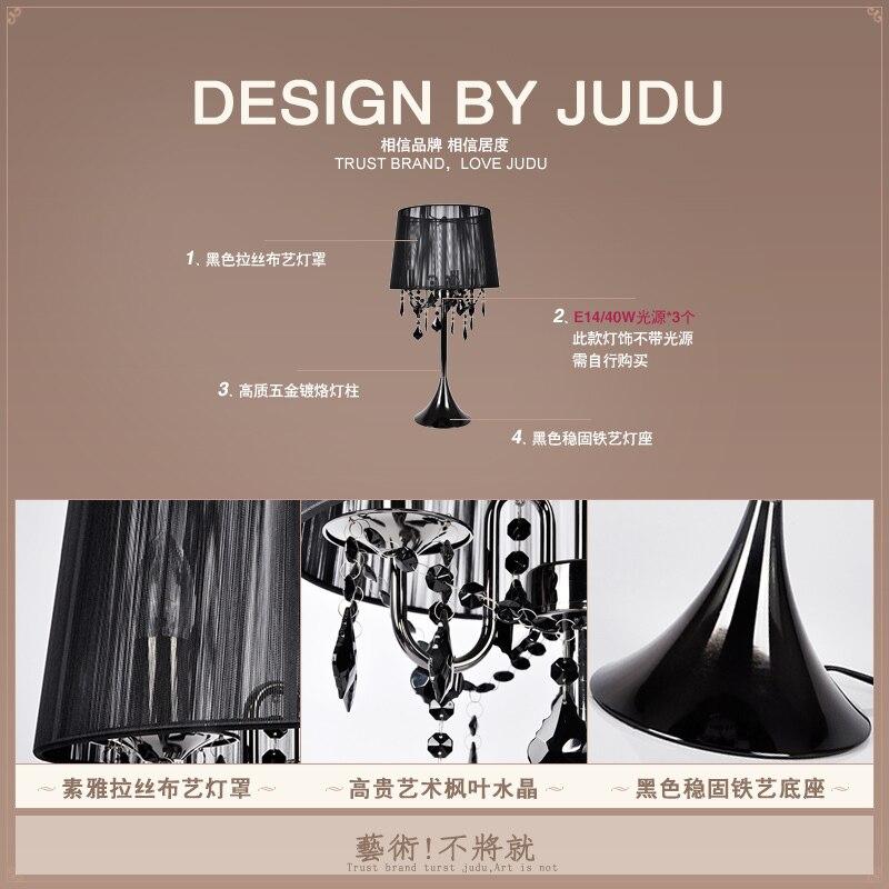 European Crystal Desk Luxury Bedroom Study Table Lamp Night Light Bedside Model House For Living Room Lamparas Lampe