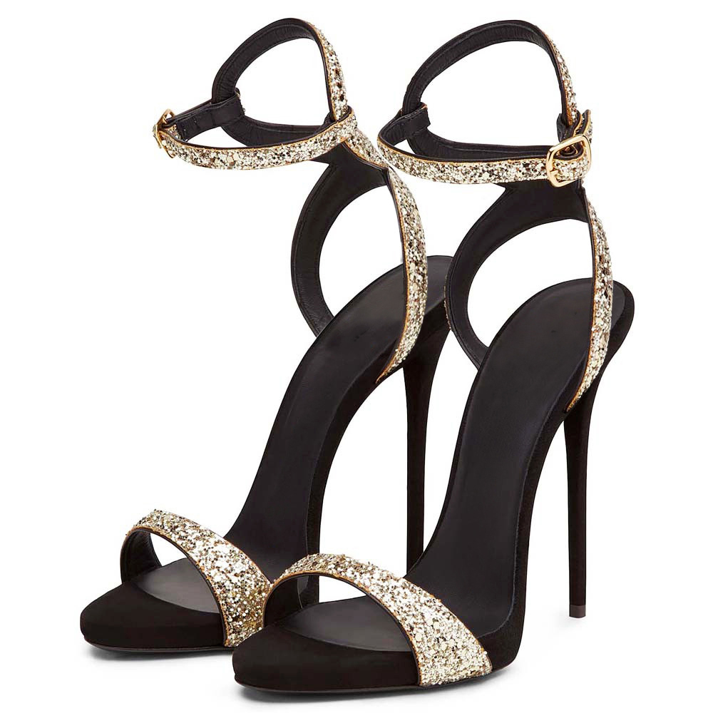 229e9ff228061 Arden Furtado 2018 summer sexy high heels 12cm fashion shoes for woman  silver bling bling platform sandals party shoes size 33-in High Heels from  Shoes on ...