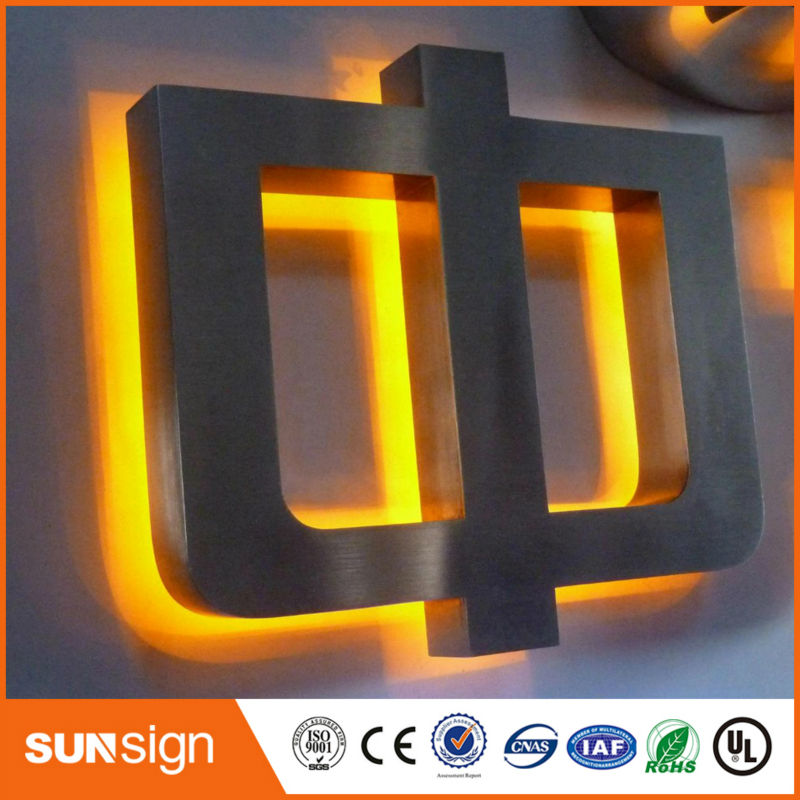 Stainless Steel Outdoor Light Number Backlit LED Sign Letters