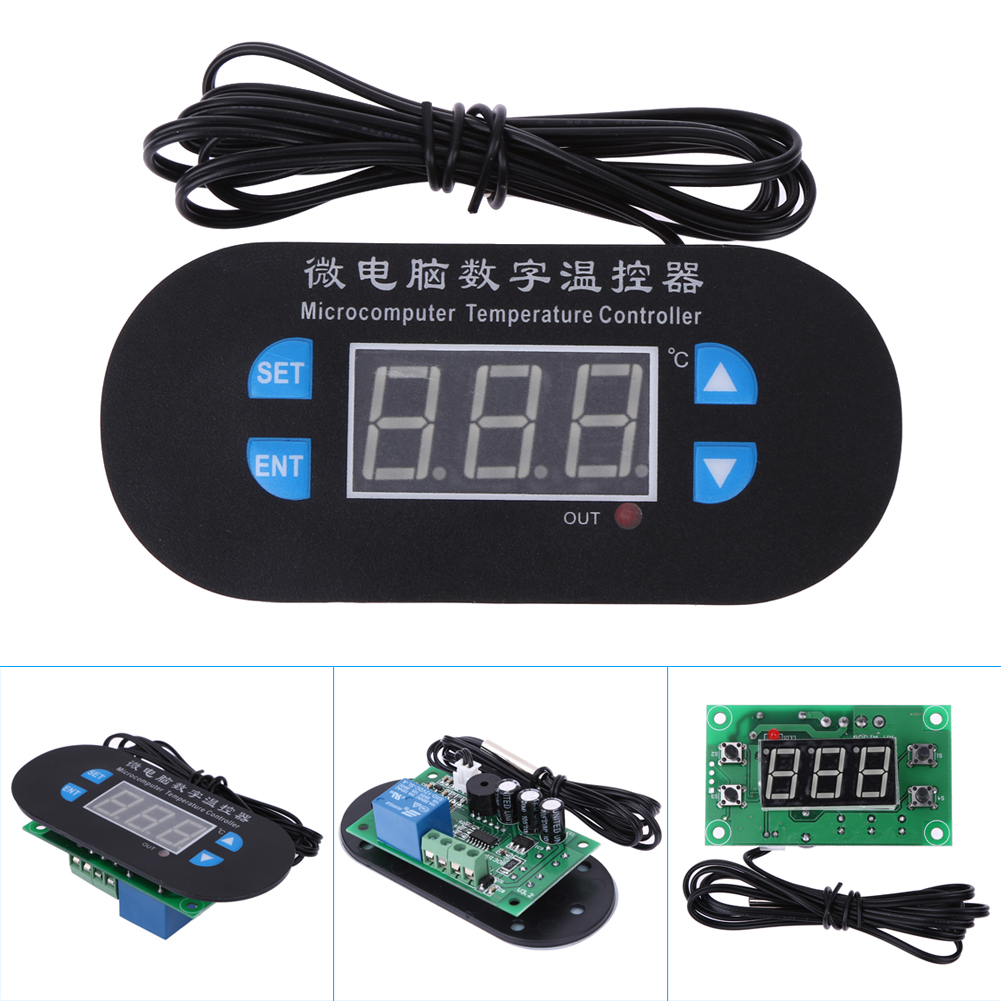 W3230 10A Digital Temperature Controller Red And Blue Display DC/AC 12V Temperature Instrument Cooling or Heating Working Mode