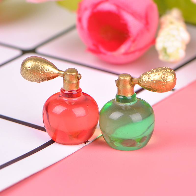 1pc Miniature Perfume Bottle Model Pretend Play Toy Dollhouse Dress Table Decoration Furniture Toys