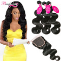 Brazilian Body Wave With Closure Peerless 7A Brazilian Virgin Hair With Closure 3 Bundles Weave Mink Brazilian Hair With Closure