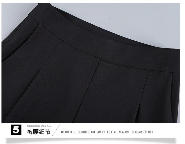 New OL suits 2018 summer Korean fashion stripe chiffon blouse top & wide-legged pants two pcs clothing set lady outfit S-4XL 27