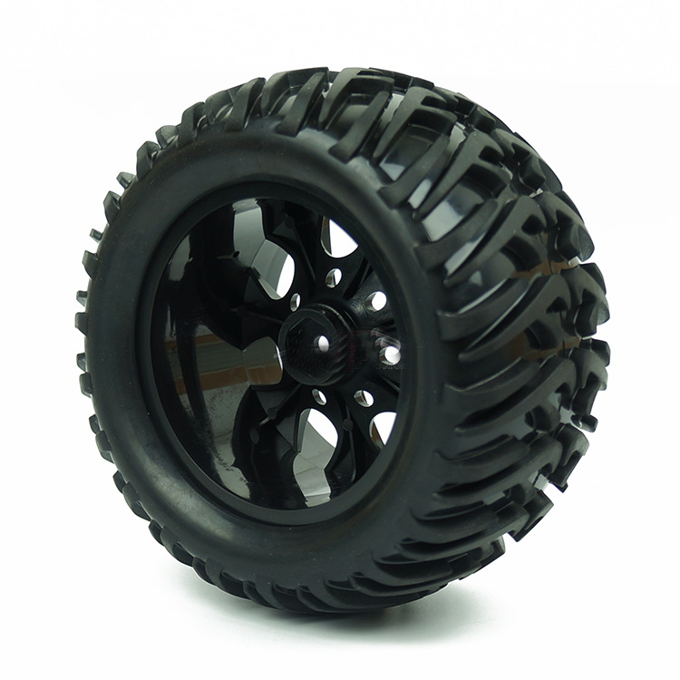 Image 4 - 4PCS HSP Truck Wheel Tires D128mm Rubber Tire 128*65mm Wheels in 12mm Hex Adapter for 1/10 94111 94188 Off road RC Cars-in Parts & Accessories from Toys & Hobbies