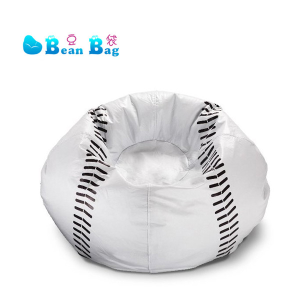 Free Shipping Clearance Kids Baseball Bean Bag Lounger Single Seat Sofa One Chair