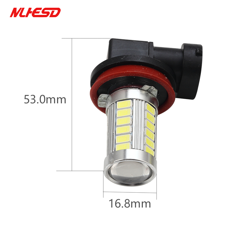 2Pcs LED Car Headlamp Fog Lamp H8 H11 5630 33SMD Automobile Daytime Running Light Auto Light-emitting Diode DRL Bulb Accessories