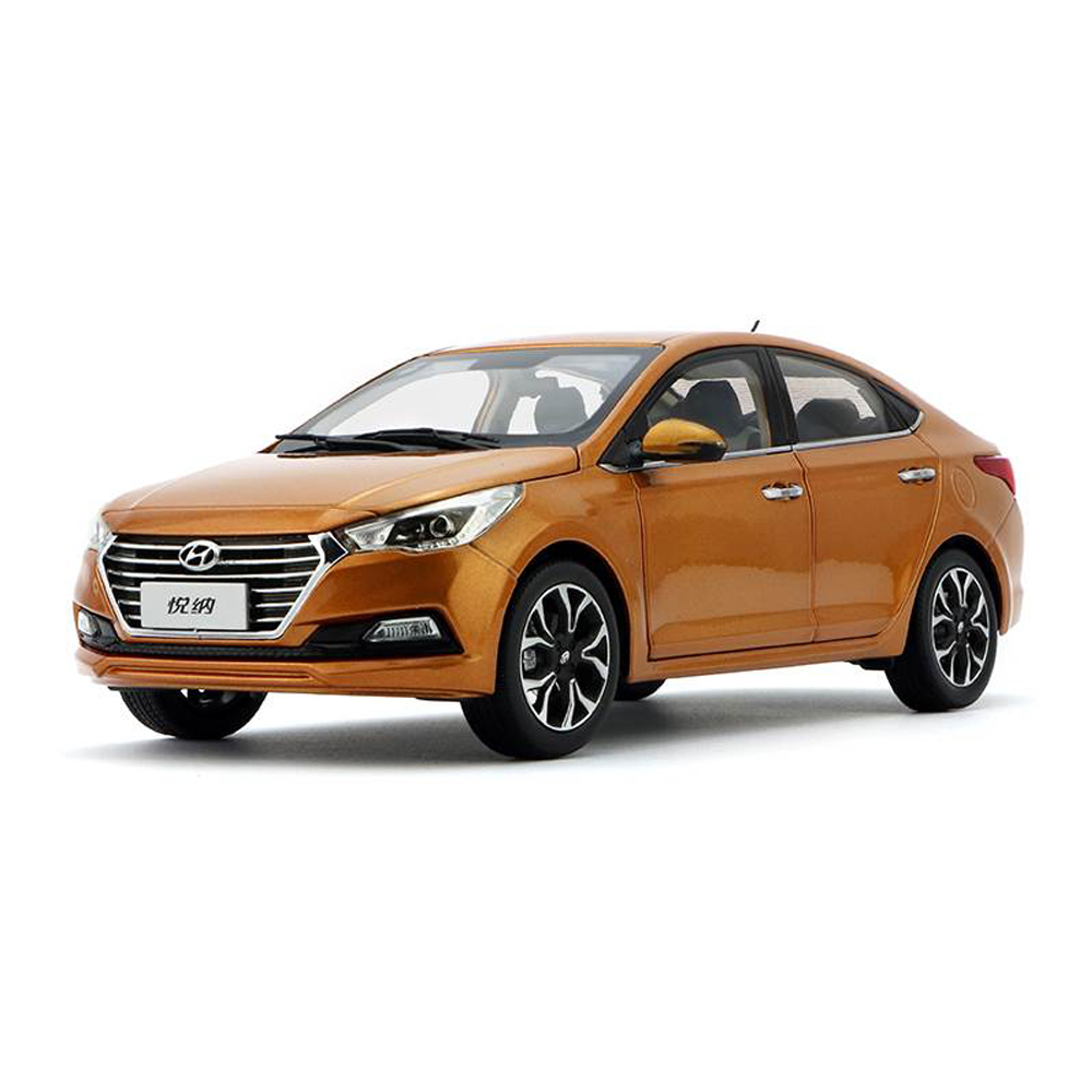 Diecast 1:18 Scale VERNA Diecast Alloy Car Model Toy For Collection & For Kids Gift Free Shipping
