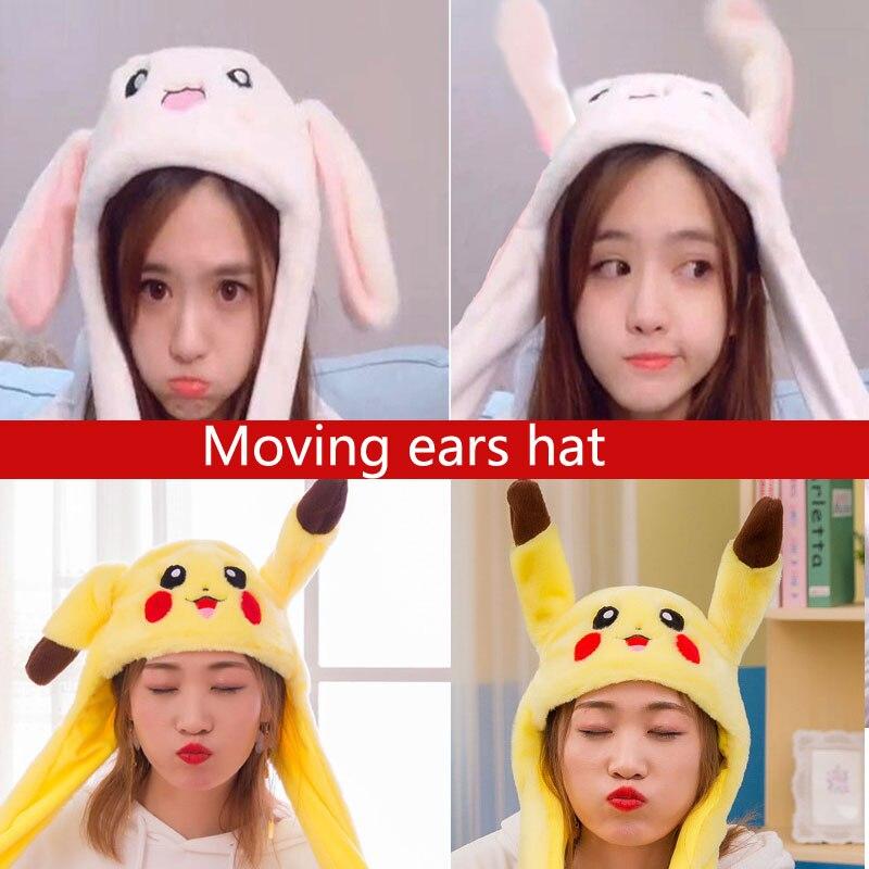 kocozo-lapin-chapeau-avec-oreilles-mobiles-mignon-dessin-anime-jouet-chapeau-airbag-kawaii-drole-jouet-casquette-enfants-en-peluche-jouet-cadeau-d'anniversaire-chapeau-pour-les-filles