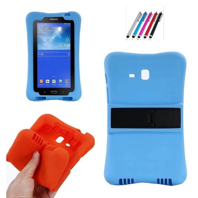 Cover For Samsung Galaxy Tab 3 Lite 7.0 Case Kids Safe Heavy Duty Shockproof soft Silicone Case For SM-T110 SM-T111 SM-T113 T116
