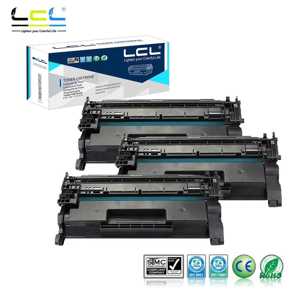 LCL 26A CF226A CF226 226A (3-Pack Black) Toner Cartridge Compatible for HP LaserJet Pro M402n/M402d/M402dn/M402dw/MFPM426dw compatible black toner laserjet printer laser cartridge for hp c7115a 7115a 15a 1000 1220 3330 3300 1005 1200 3380 2500pages