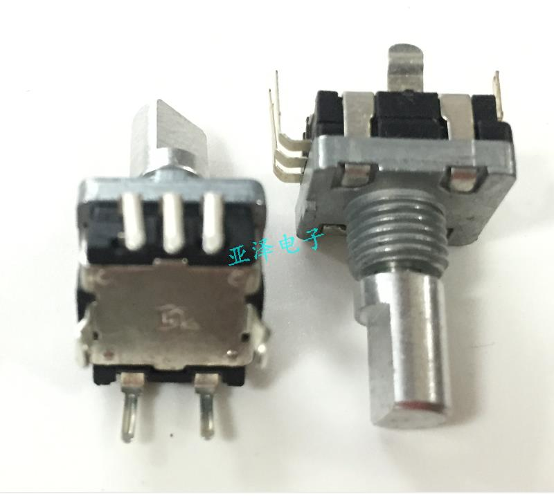 5pcs Rising Wei Type Ec11 Encoder With A Press Switch 30 Positioning 15 Pulse Shaft Length 15mm Car Volume Potentiometer Shrink-Proof Switches Lights & Lighting