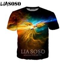 be583b0b4b2f LIASOSO Summer New Fashion Men Women Sweatshirt 3D Print Animal Parrot T  Shirt Short Sleeve Hip
