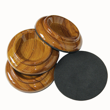 Piano Caster Cups Rose Wood Color Double Wheel Upright Piano Mats Set 4pcs/set