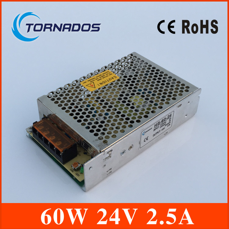 60W 24V 2.5A Single Output Switching power supply unit for LED Strip light Universal AC DC Converter HS-60-24 single output uninterruptible adjustable 24v 150w switching power supply unit 110v 240vac to dc smps for led strip light cnc