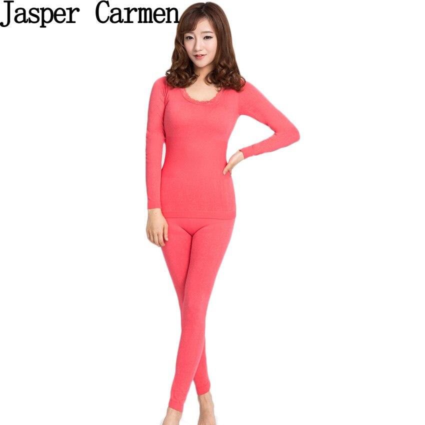 Free shipping Soft Underwear Women Slim Basic Brief modal Sweater Slim Long Johns Seamless Thermal Set 12.5hfx