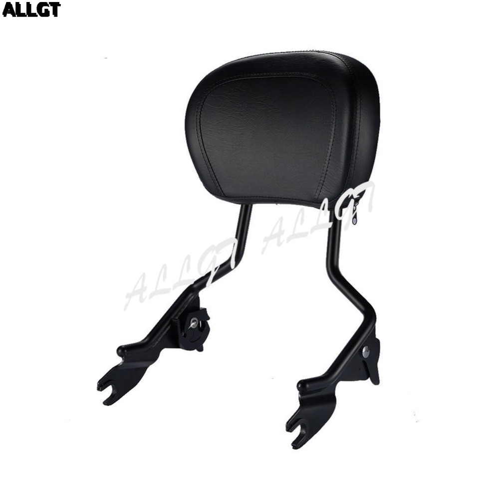 ALLGT New Passenger Sissy Bar Backrest For Touring Street Glide Road King 2008-2016 2009 2010 2011 2012 2013 2014 2015