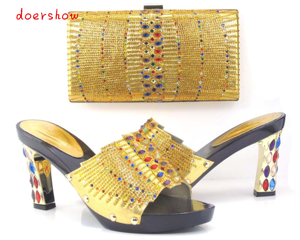 New Fashion Italian Shoes with Matching bags For Party african Shoes And Bags Set for Wedding shoe and bag set doershow Q1-12