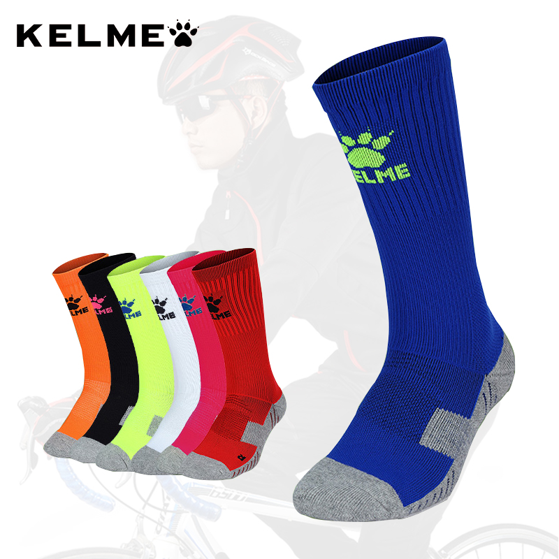 KELME Sports Socks Men Soccer Socks Cycling Running Outdoor Sports Anti Slip High Quality Breathable Male K15Z934