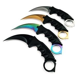 Image 2 - Karambit cs行く固定刃ナイフフェード決してカウンターストライク戦闘爪ナイフサバイバルキャンプedcコスプレツール
