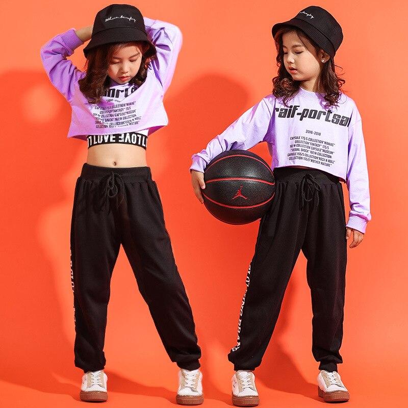 Новое поступление 2019, комплекты из 3 предметов в стиле хип хоп, хлопковая одежда для уличных танцев для девочек подростков, укороченный топ, штаны, жилет, спортивные костюмы в стиле джаз, уличная одежда|Комплекты одежды| | - AliExpress