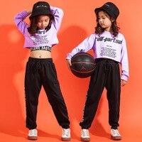 وصل حديثا 2019 الهيب هوب 3 قطعة ملابس قطنية للمراهقات ملابس الرقص للشارع سراويل قصيرة سترات جاز ملابس الشارع الرياضية|مجموعات الملابس|   -