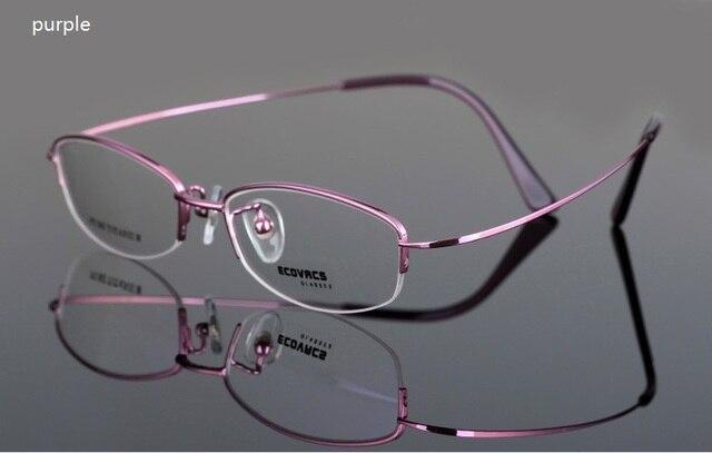 Женские легкие титановые очки кадр удобная краткая чистый титан половина обод рама очки кадр