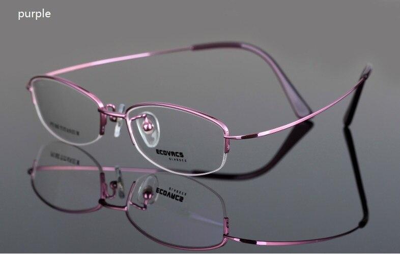 women's light titanium eyeglasses frame comfortable brief pure titanium half rim frame glasses frame pure titanium full rim frame men male eyeglasses titanium sunglasses frame