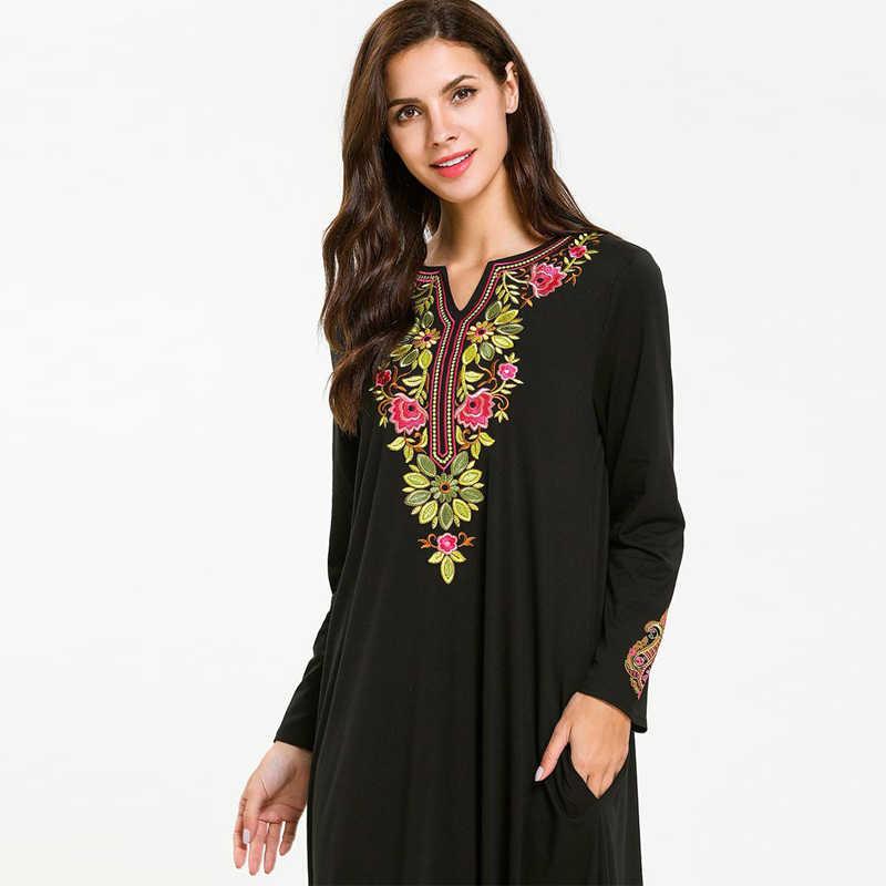 Абаи s для Женский Восточный халат Абая, для мусульман платье джилбаба кафтан Elbise Рамадан платье из Дубая Катар ОАЭ платье хиджаб Турции Исламская Костюмы