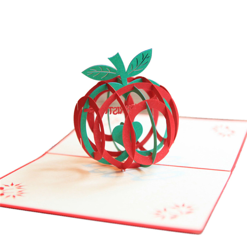 3d hollow apple paper greeting cards pop up card christmas xmas 3d hollow apple paper greeting cards pop up card christmas xmas party invitations laser cut postcard in cards invitations from home garden on m4hsunfo