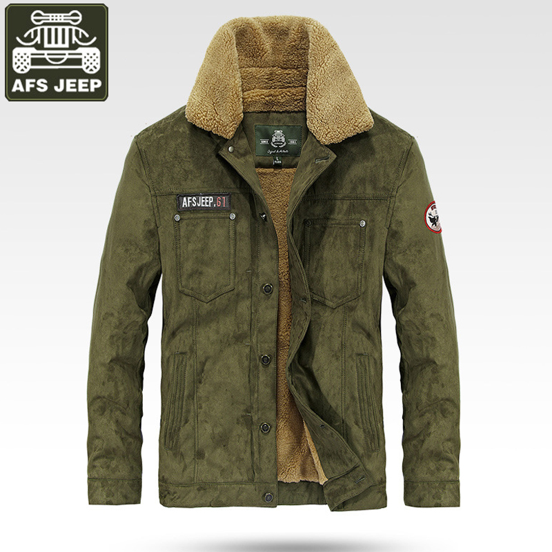 AFS JEEP Brand Jacket Men 2017 Casual Winter Jacket Coat Men Thick Fleece Warm Coat Windbreaker Mens Outerwear jaqueta masculina