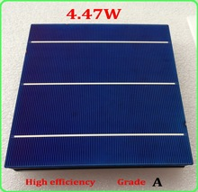 20 Pcs 4.47 156MM  Polycrystalline Silicon Solar Cell 6×6 Prices Cheap Grade A For DIY PV Poly Solar Panel+enough ribbon for diy