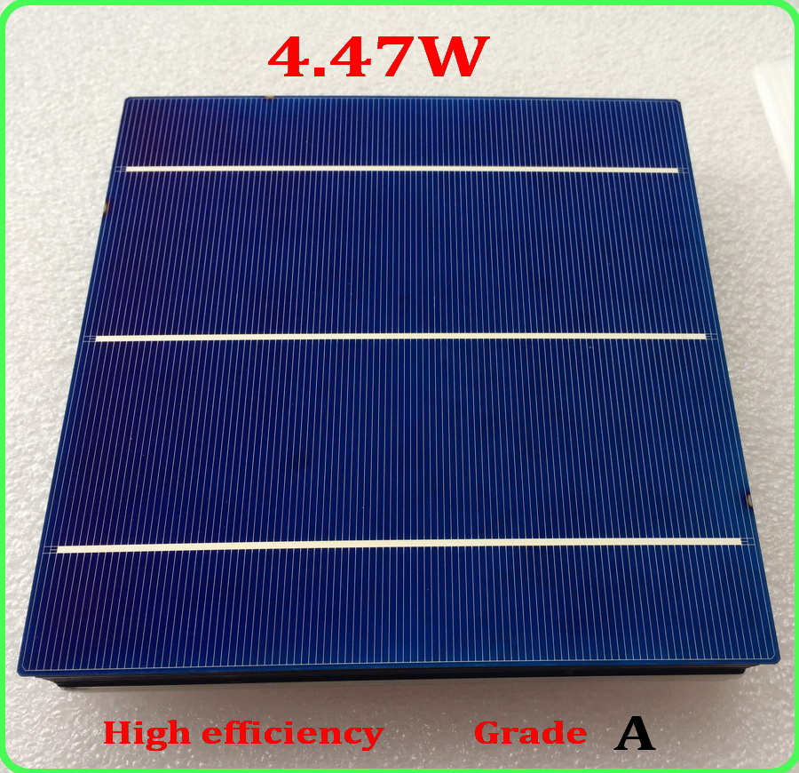 20 Pcs 4.47 156MM Polycrystalline Silicon Solar Cell 6x6 Prices Cheap Grade A For DIY PV Poly Solar Panel+enough ribbon for diy