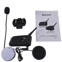 Motorcycle Bluetooth helmet walkie-talkie full-duplex communication Wireless Bluetooth 1200 meters 4 person full duplex Talkback