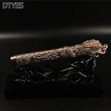 Beautiful Resin Katana Tsuka for Japanese Samurai Sword Bronze Dragon Head Katana Handle